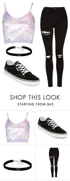 """""""Untitled #121"""" by juliaalmeida-i ❤ liked on Polyvore featuring Vans, Astrid & Miyu and Topshop"""