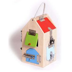 Small Foot Design Domek Z Zamkami 4432 - Ceny i opinie - Ceneo. Motor Activities, Infant Activities, Sensory Activities, Big Houses, Play Houses, Sensory Boxes, Wooden House, Wood Toys, Kids Playing