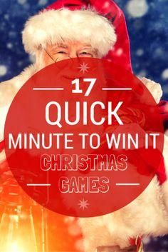 christiancamppro.... Gearing up for Christmas with 17 Quick Minute To Win It Christmas Games.