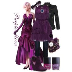"""Lightning - LRFFXIII: Purple Moon (Dressed Down)"" by imanirine on Polyvore"