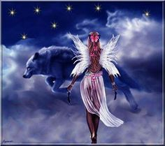Mystic Girls, Angels, Art, Magick, Wolves, Art Background, Angel, Kunst, Art Education