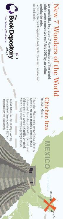 New 7 wonders of the world 1/4 Bookmark - 2012