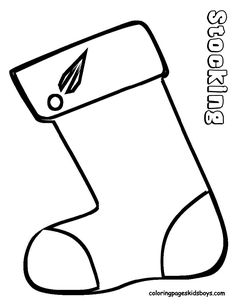 christmas stocking coloring sheet A CRAFT CHRISTMAS COLORING