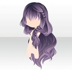 hair reference Beth Inspiration More - haar Anime Chibi, Pelo Anime, Hair Sketch, Dibujos Cute, Poses References, Estilo Anime, Cocoppa Play, Hair Reference, How To Draw Hair