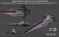 Venator Class Star Destroyer ortho [1][New] by unusualsuspex.deviantart.com on @DeviantArt