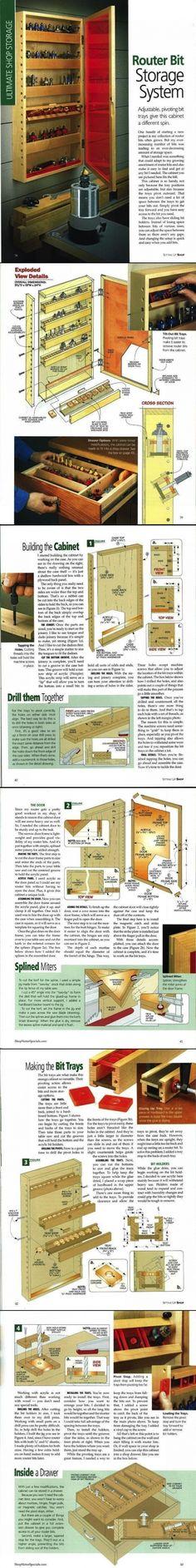 Router Bit Storage System - ShopNotes Magazine / Setting Up Shop 2009