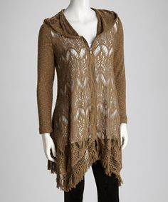 Take a look at this Cumin Fringe Lacy Duster by XCVI on #zulily today!