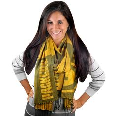 Green Bay Packers Pashmina.  I have one of these and I love it.  It is so nice and comfortable, I wear it all the time.
