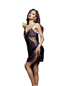 Sunshine Sexy Silk Lace Nightdress Pajamas Silk Nightgownpink Amazon Best Buy Sexynightgown