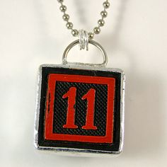 Number 11 Pendant Necklace by XOHandworks $20