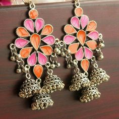 Read the site above just press the grey link for more information --- Fancy Earrings, Jewelry Design Earrings, Indian Earrings, Ruby Jewelry, India Jewelry, Tiffany Jewelry, Designer Earrings, Silver Earrings, Heavy Earrings