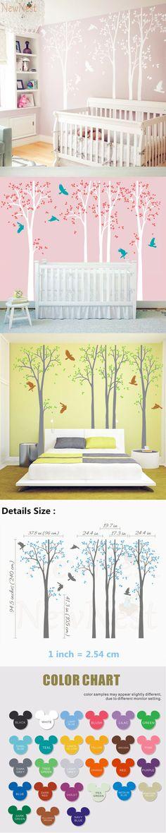 Waterproof Huge Jungle Owl Monkey Wall Decals Stickers Kids Bedroom ...