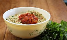 Cous Cous and Fresh Herbs with Tomato & Sultana Chutney - Maggie Beer Couscous Recipes, Salad Recipes, Healthy Recipes, Healthy Food, Tomato Chutney, Chutney Recipes, Beer Recipes, Fresh Herbs, Easy Meals