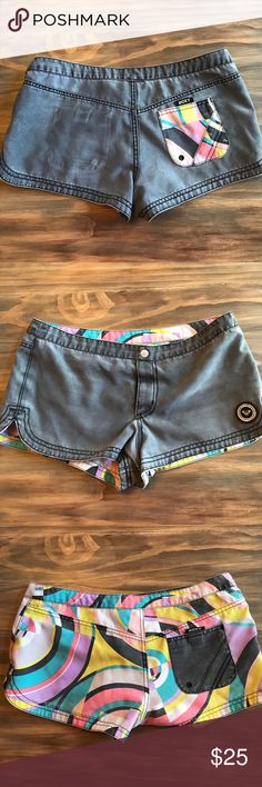Roxy Board Shorts Reversible board shorts that are great for the lake Roxy Shorts