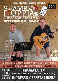 TuttoPerTutti: 10 FEBBRAIO 2017: SCAMBI DI COPPIA - BAR FERMATA 17 - GATTINARA (VC) Un duo che promette... spettacolo! http://tucc-per-tucc.blogspot.it/2017/02/10-febbraio-2017-scambi-di-coppia-bar.html