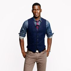 Ludlow vest in navy English wool - vests - Men's sportcoats & vests - J.Crew