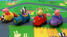Peppa Pig in english. New Toy Mega Mat Peppa Pig and little brother Geor...