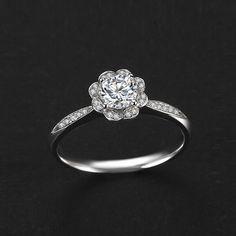Shinning Cubic Zirconia Flower Silver Ring [100147] - $55.99 : jewelsin.com