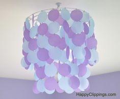 DIY: Vellum Paper Chandelier