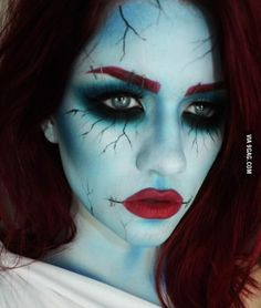 My Corpse Bride costume makeup. - 9GAG