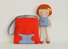 Boneca com bolsa!! Fofa combinação!!