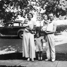 My sweet mother is the little girl in between her parents Orville Stone and Valda Wonder. Her younger brothers Gary and Rodney are there as well. I wonder who took the photo...a grandparent maybe? There is something really great about seeing your parents as children in pictures. I love the glimpse we get into their lives before we ever knew them. Mom doesn't look very happy in this picture!