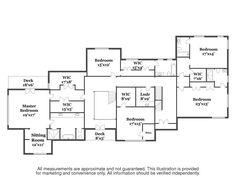 35 Winding Lane upper level floor plan