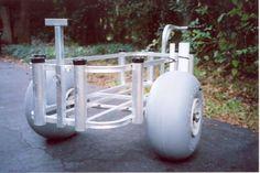 8 Homemade DIY Beach Cart Ideas from Repurposed Items Fishing Trolley, Beach Fishing Cart, Beach Cart, Saltwater Fishing Gear, Kayak Fishing, Fishing Tips, Fishing Stuff, Beach Wagon, Catfish Fishing