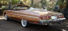 1975 Chevy Caprice Classic convertible. The last year for the ragtop model.
