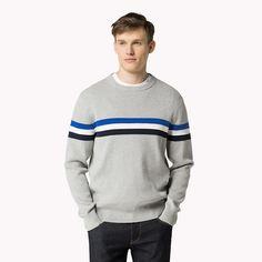 Tommy Hilfiger Fran Crew-neck Sweater - cloud htr / multi (Grey) - Tommy Hilfiger Jumpers - main image