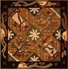 Primitive Gatherings - Celebrations Snowbound (Powered by CubeCart) Wool Applique Patterns, Applique Quilts, Quilt Patterns, Quilting Fabric, Wool Quilts, Scrappy Quilts, Barn Quilts, Christmas Sewing, Christmas Quilting