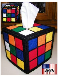 Totally Accurate & Authentic Rubiks Rubik Rubix Rubic cube Tissue Box Cover , as Seen On The Big Bang Theory by Frizman, $24.99