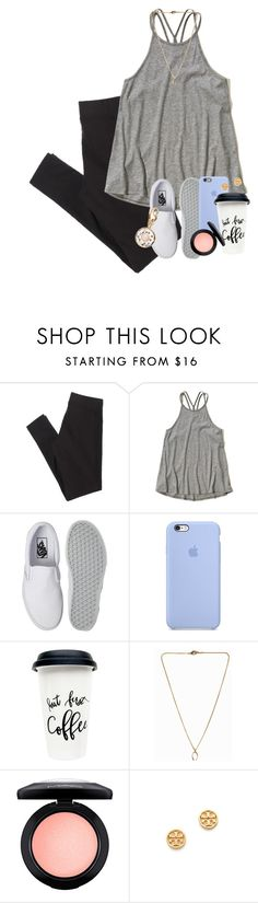"""""""Just got an A on a test I thought I was gunna fail ☺️"""" by erinlmarkel ❤ liked on Polyvore featuring American Eagle Outfitters, Hollister Co., Vans, Pilgrim, MAC Cosmetics, Tory Burch and Kate Spade"""