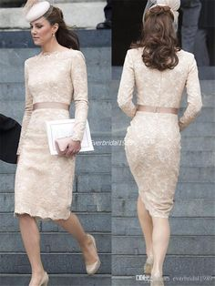 everbridal1989 welcomes you to select dress for women,dresses on sale and formal wear for women on Dhagte.com.  Kate Middleton Modest Lace Evening Dresses 2015 Sheath Scoop Long Sleeves Vintage Lace Plus Size Celebrity Dresses Formal Cocktail Dress is on sale now.
