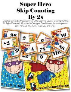 Super Hero Skip Counting -- By 2s