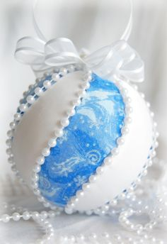 Create your own Christmas Baubles using Styrofoam and your imagination....
