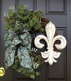 Hey, I found this really awesome Etsy listing at http://www.etsy.com/listing/154678983/fleur-de-lis-wreath