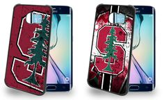 Stanford Cardinals Cell Phone Hard Case TWO PACK for Samsung Galaxy S6, Samsung Galaxy S6 Edge