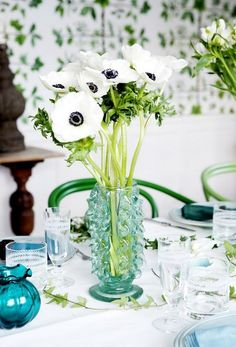 simple flowers placed in a beautiful vase