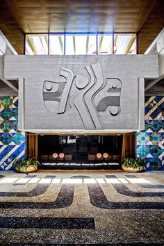 The Embassy of Portugal in Brasilia, Brazil designed by architect Chorão Ramalho with tile and relief work by artist Querubim Lapa. Make A Coffee Table Book, Architecture Details, Interior Architecture, Exterior Design, Interior And Exterior, Brutalist, Modern Design, Mid Century, House Design