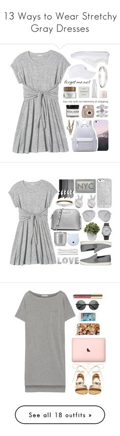 """13 Ways to Wear Stretchy Gray Dresses"" by polyvore-editorial ❤ liked on Polyvore featuring waystowear, graydresses, Rebecca Taylor, Vans, Fig+Yarrow, Casetify, Jennifer Lopez, Diamonds Unleashed, Byredo and Lancer Dermatology"