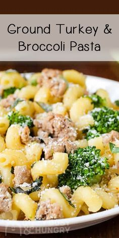 Ground Turkey Pasta with broccoli is a quick family dinner recipe dizzybusyandhungry pasta broccoli dinner comfortfood # Ground Turkey Pasta, Healthy Ground Turkey, Quick Ground Turkey Recipes, Dinner With Ground Turkey, Ground Beef, Ground Turkey Enchiladas, Quick Family Dinners, Healthy Turkey Recipes, Crockpot Recipes