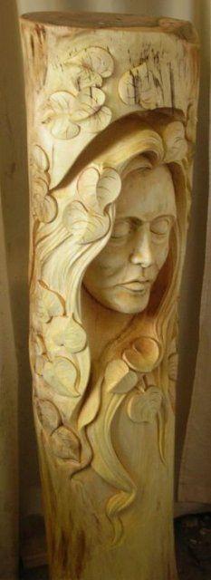 Lipová víla, lipové dřevo, 150cmx40cm, cena 15.000,- Kč