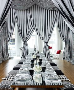 Drama of black and white --and the kids will love sitting on the pillows!