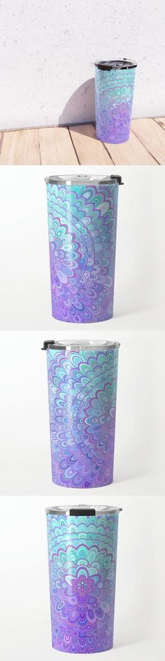 Mandala Flower in Light Blue and Purple Travel Mug by David Zydd #MandalaTravelMug #BestTravelMugs #Ornamental #Energy #Decoration #MandalaDesign #MandalaPattern (tags: mandala, geometric, graphics, mandala decor, print, light, design, floral art, energy, gift idea, artwork, christmas, society6, floral design, arts, mandala art, mantra) Flower Mandala, Mandala Art, Mandala Pattern, Mandala Design, Bohemian Decor, Boho, Floral Design, Light Blue, David
