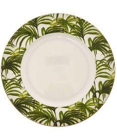 House of Hackney Green Palmeral Bone China Plate  sc 1 st  Pinterest & hawaiian+dinnerware | Coconut Palm Porcelain Dinnerware Set | Dinner ...