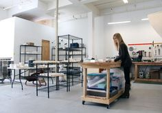 Revisions Design Studio- love this ceramics studio and her packing spot!