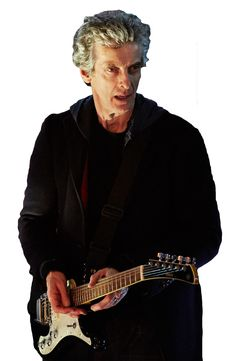 Transparent 12th Doctor with Guitar