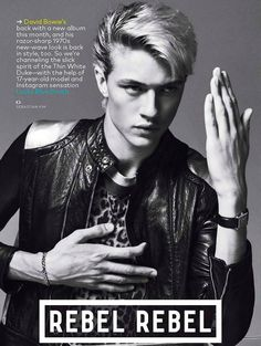 Lucky Blue Smith photographed by Sebastian Kim, for the January 2016 issue of GQ USA.