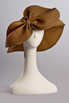 Signature Bow Hat by Kathy Jeanne. #millinery #judithm #hats The bow front really sets off this hat.